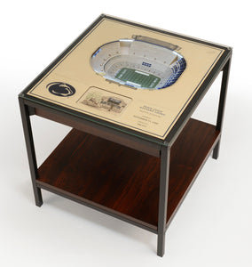 Penn State Nittany Lions | 3D Stadium View | Lighted End Table | Wood
