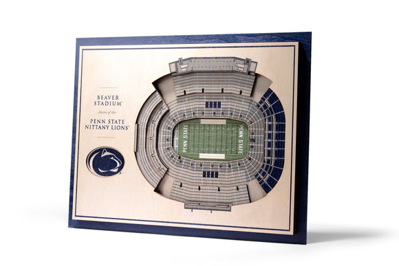 Penn State Nittany Lions | 3D Stadium View | Beaver Stadium | Wall Art | Wood | 5 Layer