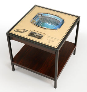 Philadelphia Eagles | 3D Stadium View | Lighted End Table | Wood