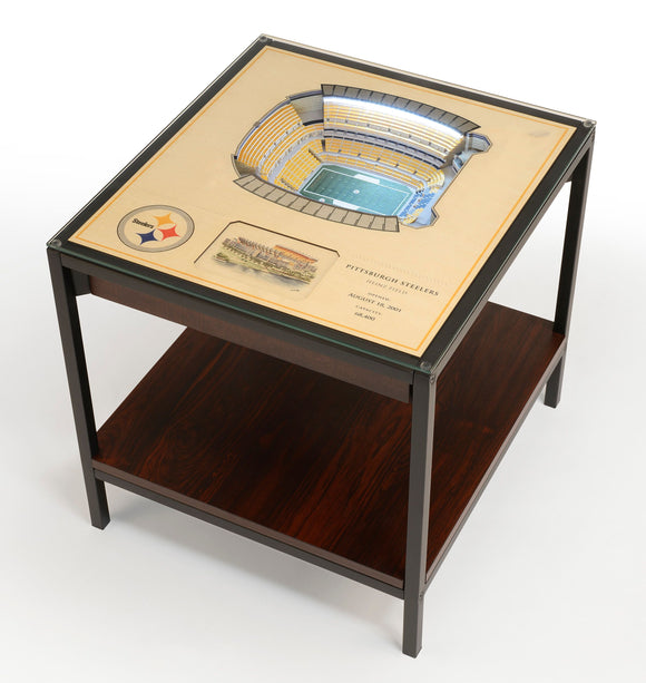 Pittsburgh Steelers | 3D Stadium View | Lighted End Table | Wood