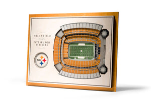Pittsburgh Steelers | 3D Stadium View | Heinz Field | Wall Art | Wood | 5 Layer