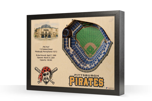 Pittsburgh Pirates | 3D Stadium View | PNC Park | Wall Art | Wood