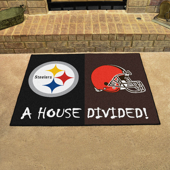 Steelers | Browns | House Divided | Mat | NFL
