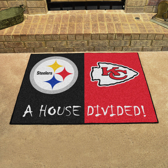 Steelers | Chiefs | House Divided | Mat | NFL