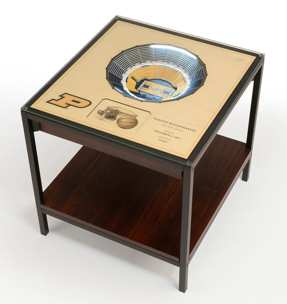 Purdue Boilermakers | 3D Stadium View | Lighted End Table | Wood