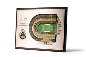 Purdue Boilermakers | 3D Stadium View | Ross Ade Stadium | Wall Art | Wood | 5 Layer