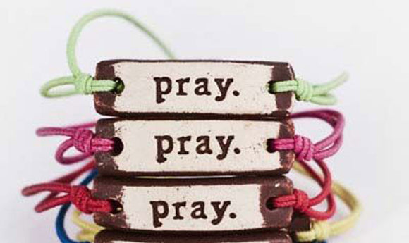 Bracelet by MudLOVE | Pray | Multiple Band Colors | Stretchable Band