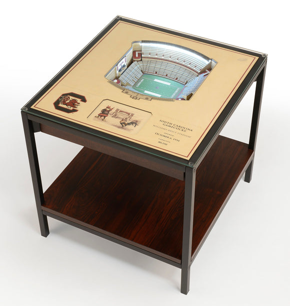 South Carolina Gamecocks | 3D Stadium View | Lighted End Table | Wood