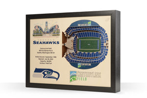 Seattle Seahawks | 3D Stadium View | CenturyLink Field | Wall Art | Wood