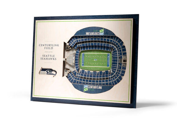 Seattle Seahawks | 3D Stadium View | Centurylink Field | Wall Art | Wood | 5 Layer