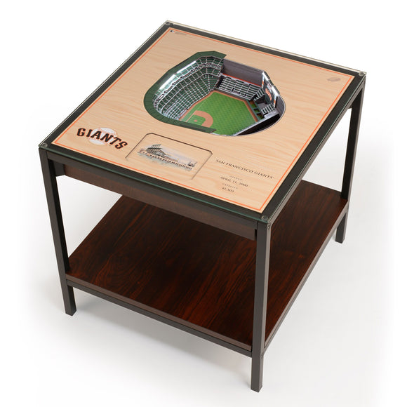 San Francisco Giants | 3D Stadium View | Lighted End Table | Wood