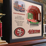 San Francisco 49ers | 3D Stadium View | Levi's Stadium | Wall Art | Wood