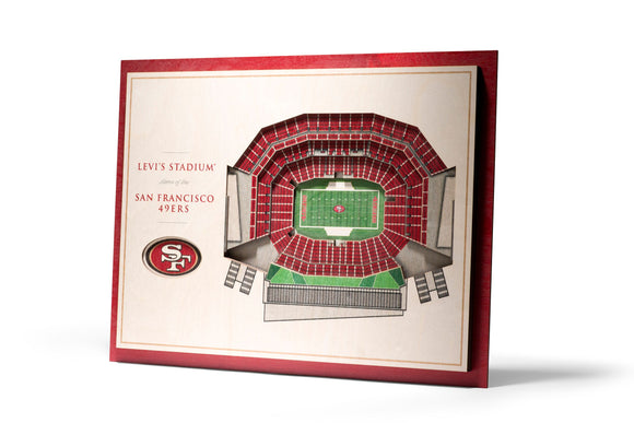 San Francisco 49ers | 3D Stadium View | Levi's Stadium | Wall Art | Wood | 5 Layer
