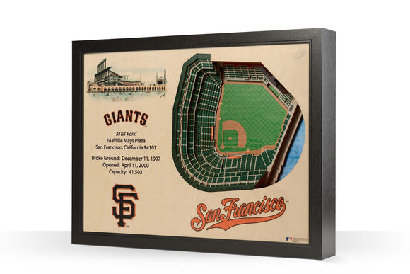 San Francisco Giants | 3D Stadium View | AT&T Park | Wall Art | Wood