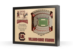 South Carolina Gamecocks | 3D Stadium View | Williams-Brice Stadium | Wall Art | Wood