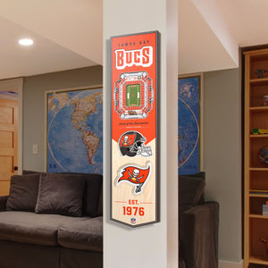 Tampa Bay Bucs | Stadium Banner | Home of the Buccaneers | Wood