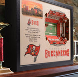 Tampa Bay Bucccaneers | 3D Stadium View | Raymond James Stadium | Wall Art | Wood