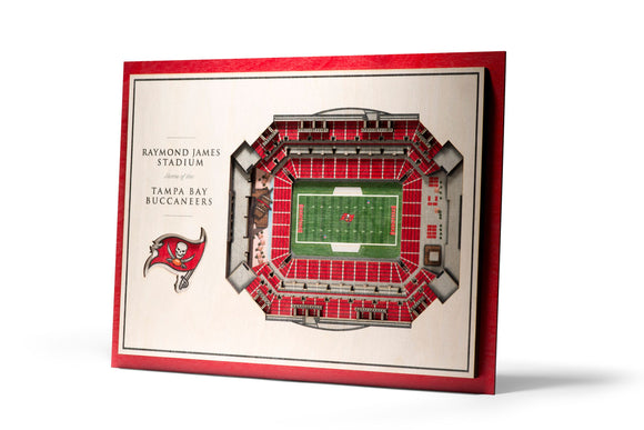 Tampa Bay Buccaneers | 3D Stadium View | Raymond James Stadium | Wall Art | Wood | 5 Layer