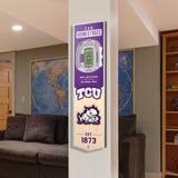TCU Horned Frogs | Stadium Banner | Amon G Carter Stadium | Wood