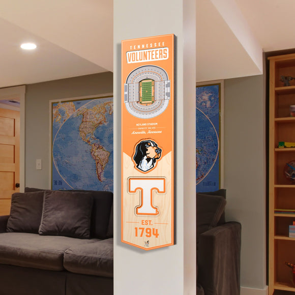 Tennessee Volunteers | Stadium Banner | Neyland Stadium | Wood