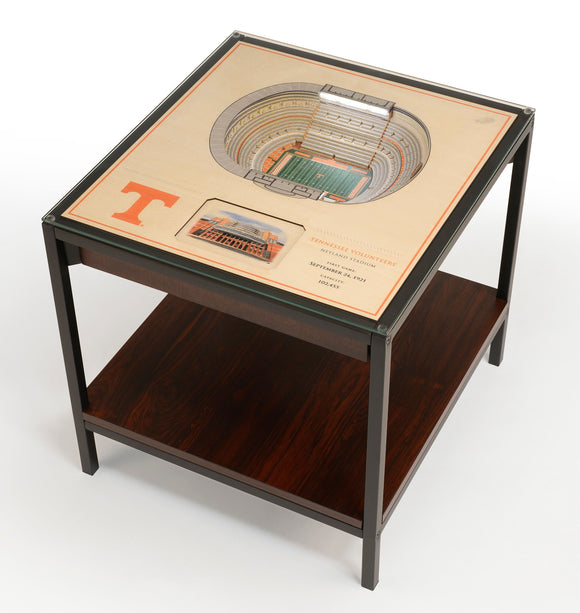 Tennessee Volunteers | 3D Stadium View | Lighted End Table | Wood