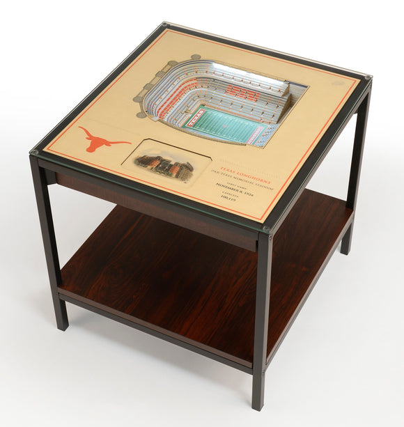 Texas Longhorns | 3D Stadium View | Lighted End Table | Wood