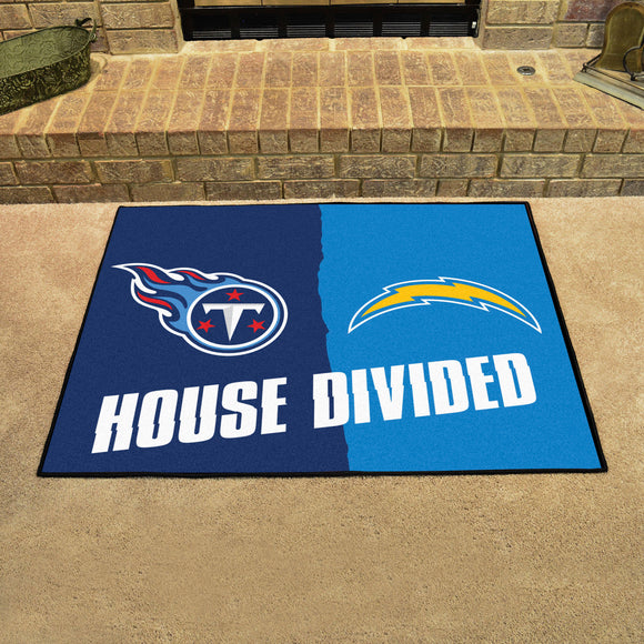 Titans | Chargers | House Divided | Mat | NFL
