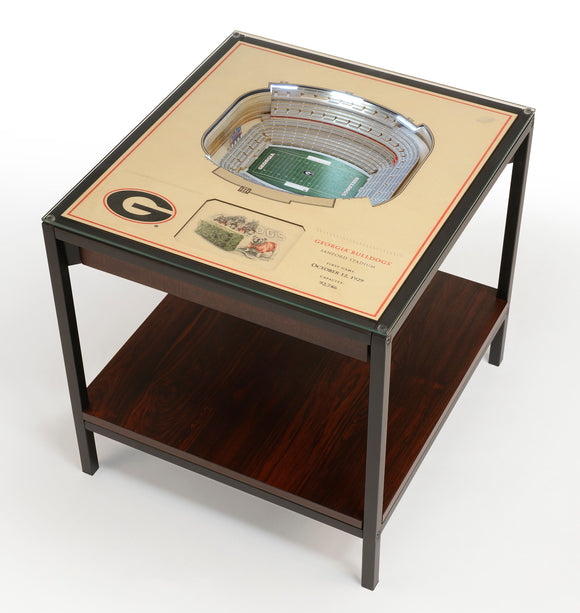 Georgia Bulldogs | 3D Stadium View | Lighted End Table | Wood