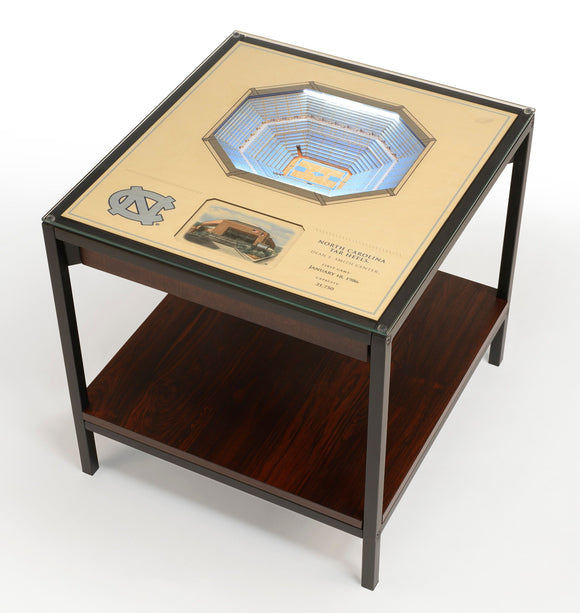 North Carolina Tar Heels | 3D Stadium View | Lighted End Table | Wood