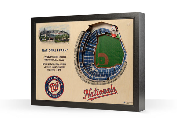 Washington Nationals | 3D Stadium View | Nationals Park | Wall Art | Wood