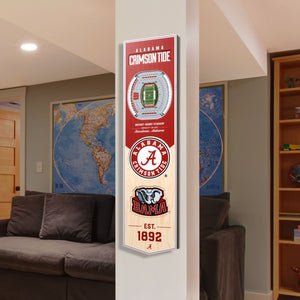 Alabama Crimson Tide | Stadium Banner | Bryant-Denny Stadium | Wood