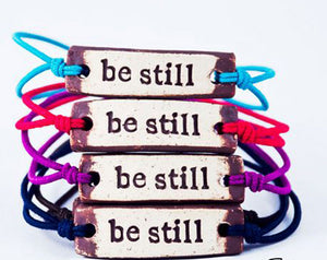Bracelet by MudLOVE | Be Still | Multiple Band Colors | Stretchable Band