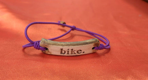 Bracelet by MudLOVE | Bike | Multiple Band Colors | Stretchable Band