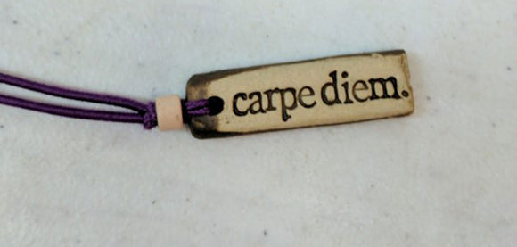 Necklace by MudLOVE | Carpe Diem | Multiple Band Colors | Stretchable Band