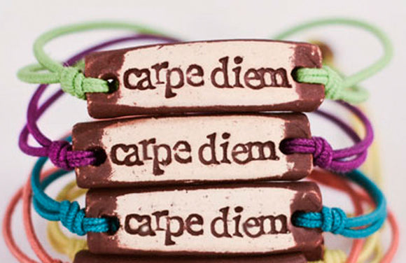 Bracelet by MudLOVE | Carpe Diem | Multiple Band Colors | Stretchable Band