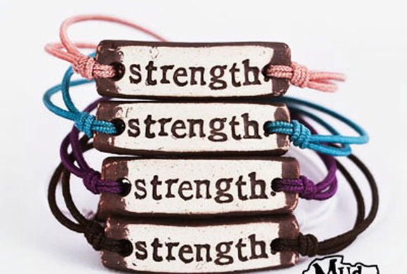 Bracelet by MudLOVE | Strength | Multiple Band Colors | Stretchable Band