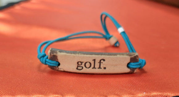 Bracelet by MudLOVE | Golf | Multiple Band Colors | Stretchable Band