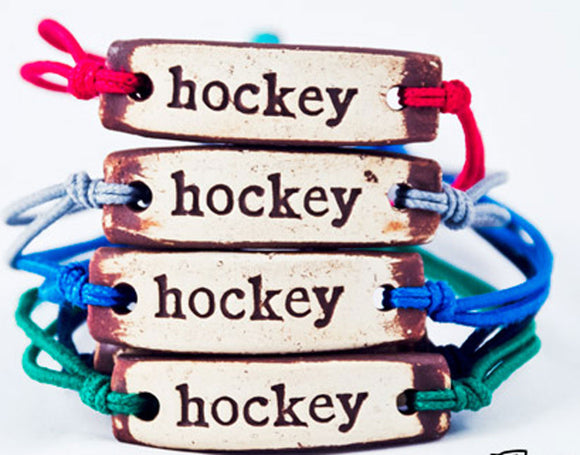 Bracelet by MudLOVE | Hockey | Multiple Band Colors | Stretchable Band