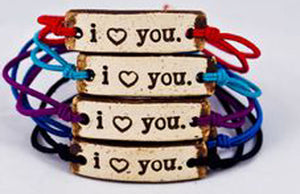 Bracelet by MudLOVE | I love you | Multiple Band Colors | Stretchable Band