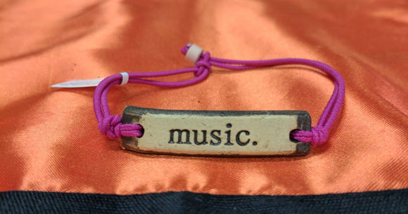 Bracelet by MudLOVE | Music | Multiple Band Colors | Stretchable Band