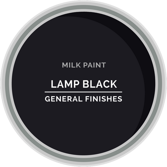 GENERAL FINISHES MILK PAINT LAMP BLACK PT