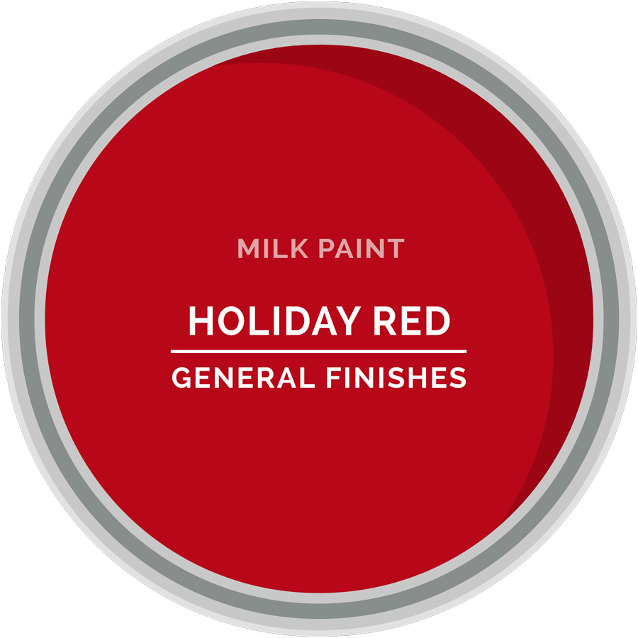 GENERAL FINISHES MILK PAINT HOLIDAY RED QT