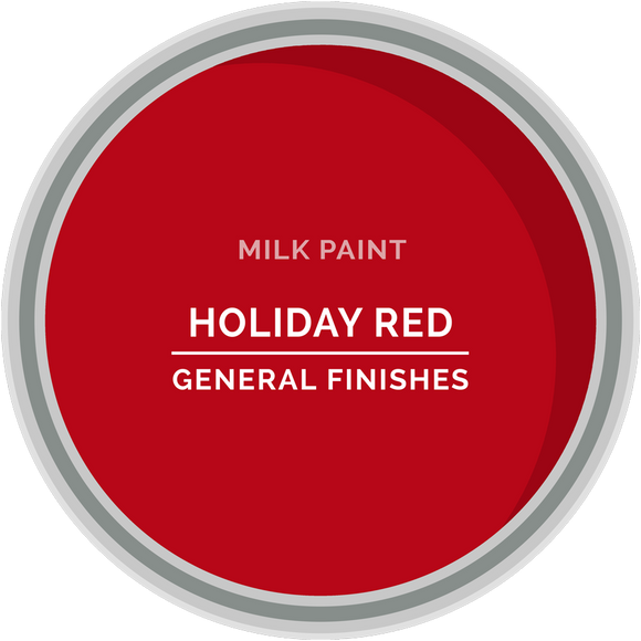 GENERAL FINISHES MILK PAINT HOLIDAY RED PT