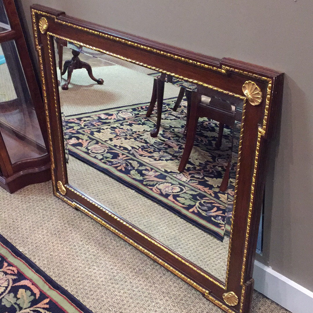 Gold & Cherry Hollywood Regency Mirror