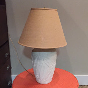 Leaf Motif Ceramic Lamp