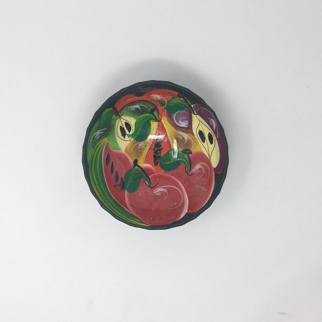 Fruit Design Glass Bowl