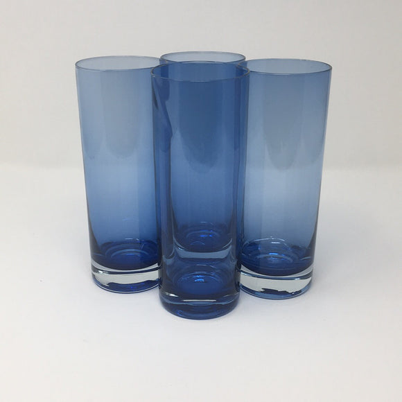 Set of 4 Tall Blue Tumblers