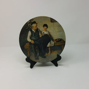 "Rockwell "" The Lighthouse Keepers Daughter"" plate"