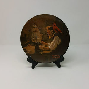 "Rockwell"" The Ship Builder"" plate"