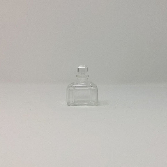 Vintage Clear Cut Glass Perfume Bottle